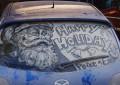 ჭუჭყიან ავტომობილებზე ხატვის დიდოსტატის ნამუშევრები (ფოტო-კოლაჟი)