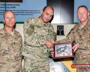 ავღანეთში ქართველი სამხედრო საუკეთესო ჯარისკაცად აღიარეს (ვიდეო)