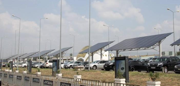 თბილისის აეროპორტის ტერიტორიაზე მზის ენერგიით ელექტროენერგიის გამომუშავების სისტემა დამონტაჟდა