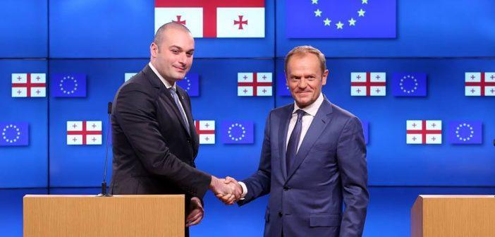 დონალდ ტუსკი: მინდა, საქართველოს ევროკავშირის ურყევი მხარდაჭერა აღვუთქვა