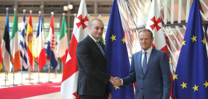 მამუკა ბახტაძე ევროპული საბჭოს პრეზიდენტ დონალდ ტუსკს შეხვდა